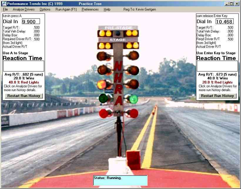 Practice Tree v2.0 Standard and Plus Versions. Computer Program to Simulate Drag  Racing ... - Performance Trends